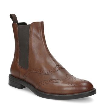 Dámská hnědá kožená Chelsea obuv vagabond, hnědá, 514-3002 - 13
