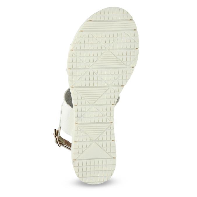 Dámské sandály se zlatými pásky na flatformě bata, bílá, 661-1614 - 18