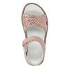 Dívčí kožené sandály s kamínky růžové mini-b, růžová, 463-5603 - 17