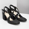 Černé dámské sandály na podpatky se třpytkami insolia, černá, 726-6653 - 26