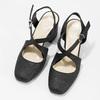 Černé dámské sandály na podpatky se třpytkami insolia, černá, 726-6653 - 16
