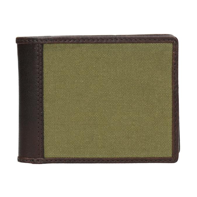 Pánská peněženka v kombinaci kůže a textilu bata, zelená, 949-7603 - 26