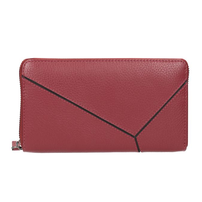 Červená kožená peněženka se vzorem bata, červená, 944-5601 - 26