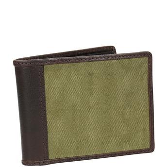 Pánská peněženka v kombinaci kůže a textilu bata, zelená, 949-7603 - 13