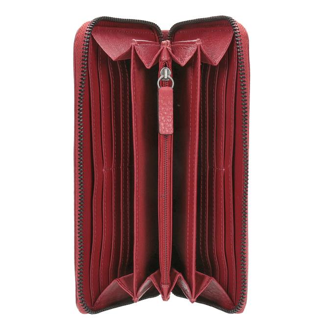 Červená kožená peněženka se vzorem bata, červená, 944-5601 - 15