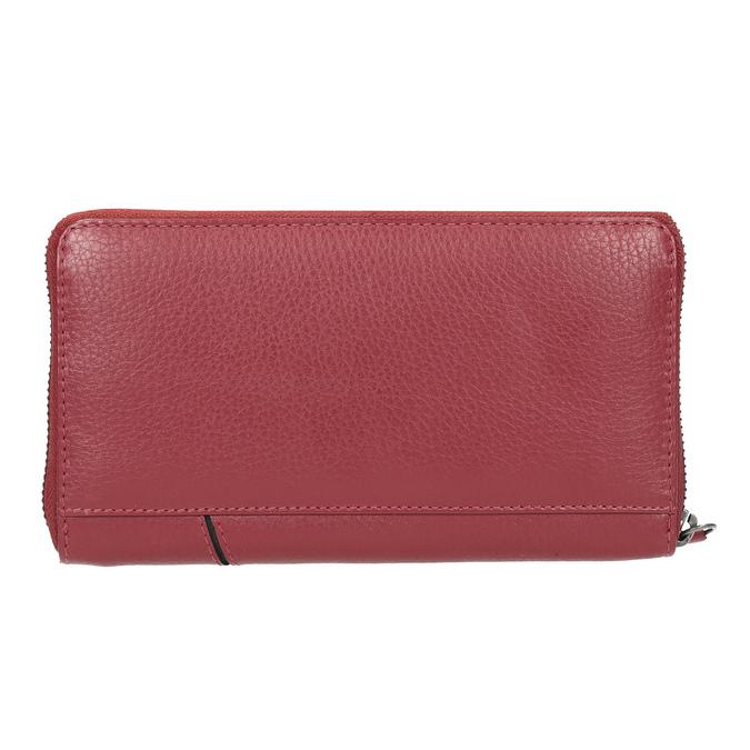 Červená kožená peněženka se vzorem bata, červená, 944-5601 - 16