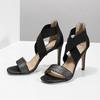 Černé sandály na jehlovém podpatku insolia, černá, 769-6625 - 16