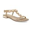Zlaté sandály s perličkami bata, zlatá, 569-5606 - 13