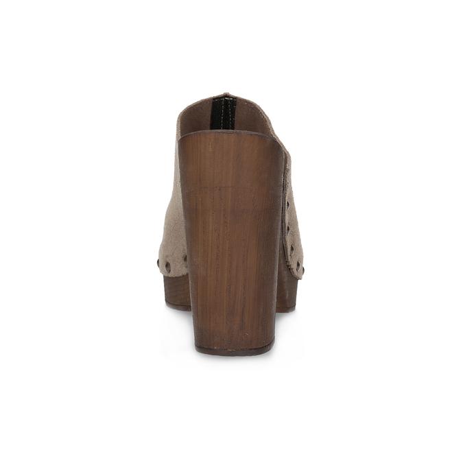 Dřeváky na stabilním podpatku bata, hnědá, 763-3605 - 15