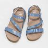 Dívčí sandály s holografickými pásky mini-b, modrá, 466-1609 - 16