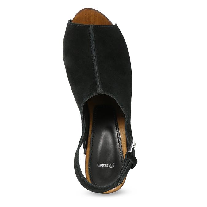 Dřeváky s otevřenou špičkou bata, černá, 763-6603 - 17
