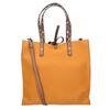 Oranžová shopper bag kabelka se cvočky bata, hnědá, 961-3296 - 16