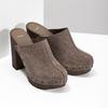Dřeváky na stabilním podpatku bata, hnědá, 763-3605 - 26