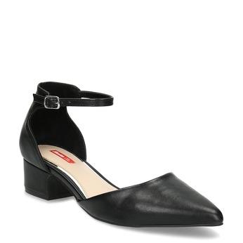 Lodičky na nízkém podpatku černé bata-red-label, černá, 621-6607 - 13