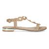 Zlaté sandály s perličkami bata, zlatá, 569-5606 - 19