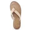 Dámské kožené žabky béžové bata, béžová, 566-2645 - 17