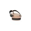 Černé kožené dámské žabky bata, černá, 566-6645 - 15