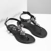 Černé dámské sandály s kamínky bata, černá, 561-6612 - 26