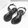 Černé dámské sandály s kamínky bata, černá, 561-6612 - 16