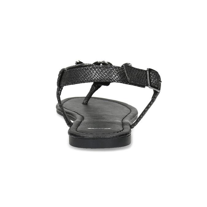 Černé dámské sandály s kamínky bata, černá, 561-6612 - 15