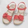 Sandály na stabilním podpatku s kytičkou comfit, červená, 661-5613 - 16