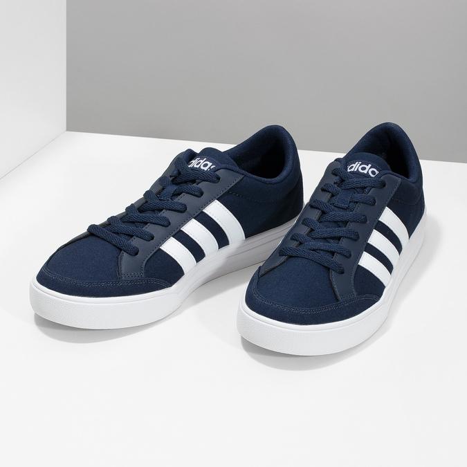 Modré textilní tenisky pánské adidas, modrá, 889-9235 - 16