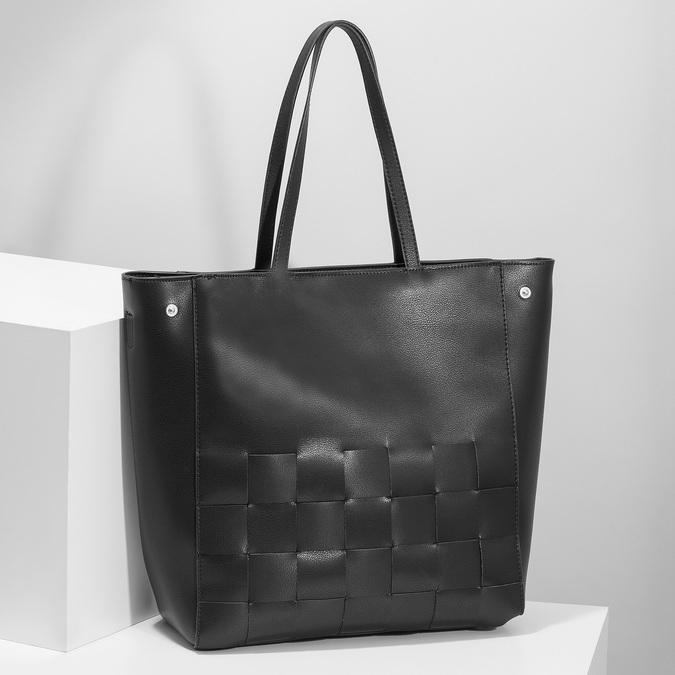 Černá kabelka s proplétáním bata, černá, 961-6236 - 17