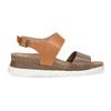 Dámské kožené sandály s korkovou podešví weinbrenner, hnědá, 566-4644 - 19
