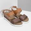 Dámské kožené sandály s korkovou podešví weinbrenner, hnědá, 566-4644 - 26