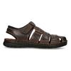 Kožené sandály se zavřenou špičkou bata, hnědá, 866-4616 - 19