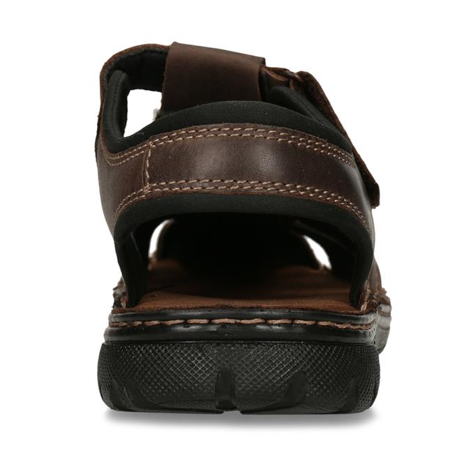 Kožené sandály se zavřenou špičkou bata, hnědá, 866-4616 - 15