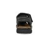 Pánské kožené sandály s plnou špičkou černé bata, černá, 866-6616 - 15