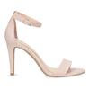Růžové sandály na jehlovém podpatku bata-red-label, růžová, 661-5610 - 19