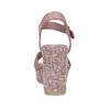 Růžové dámské sandály na širokém podpatku bata-red-label, růžová, 666-9621 - 15