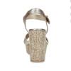 Dámské zlaté sandály na masivním podpatku bata-red-label, zlatá, 666-8621 - 15