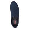 Modré pánské Slip-on boty z textilu bata-red-label, modrá, 839-9602 - 17