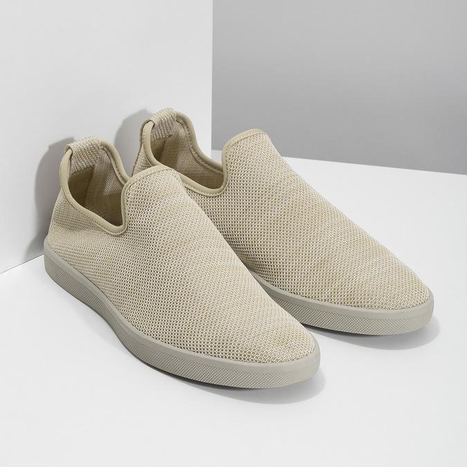 Béžové pánské Slip-on boty bata-red-label, béžová, 839-8601 - 26