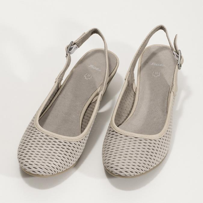 Kožené lodičky H s volnou patou bata, šedá, 623-2645 - 16