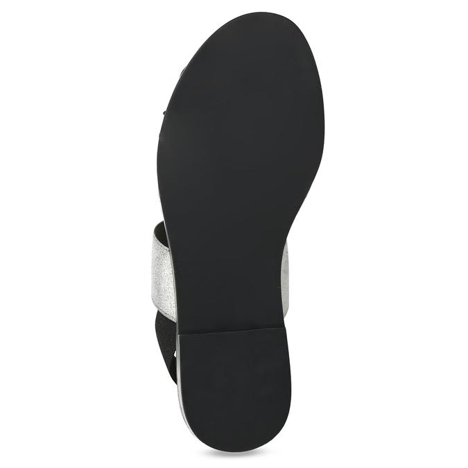 Kožené dámské černo-stříbrné sandály bata, černá, 566-6638 - 18