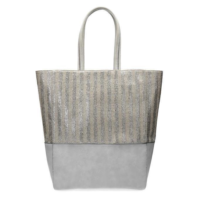 Kabelka se stříbrnými a zlatými pruhy bata, šedá, 969-2215 - 26