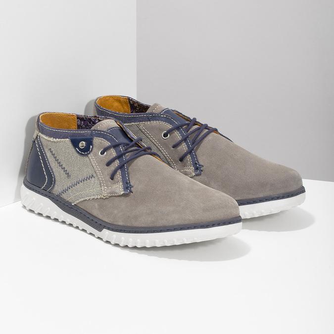 Kotníčková pánská obuv bata, šedá, 843-2633 - 26
