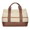 Hnědo-béžová kabelka s pruhy bata, béžová, 969-1307 - 26