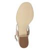 Kožené sandály na nízkém podpatku bata, béžová, 666-8626 - 19