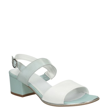 Bílo-modré sandály na nízkém podpatku bata, modrá, 666-9626 - 13