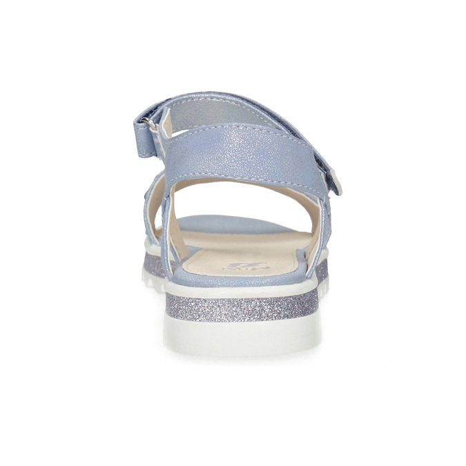 Modré dívčí sandály s hvězdičkami mini-b, modrá, 361-9172 - 15