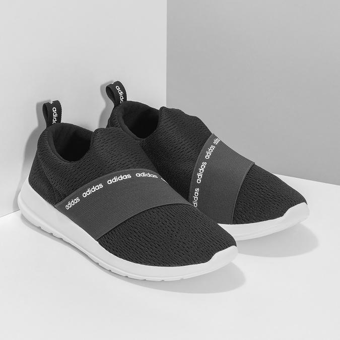 Černé nazouvací tenisky adidas, černá, 509-6565 - 26
