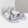 Modré dívčí sandály s hvězdičkami mini-b, modrá, 361-9172 - 26