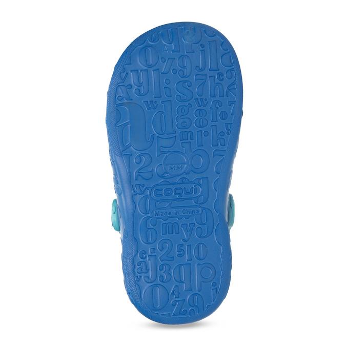 Modré dětské sandály s žabkou coqui, modrá, 272-9651 - 18