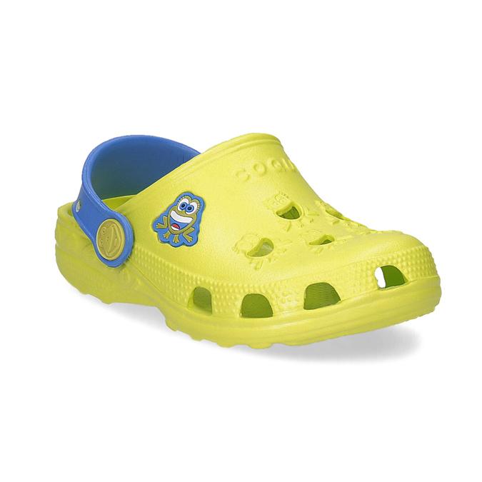 Dětské sandály s žabkou coqui, zelená, 272-7650 - 13