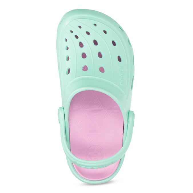 Dětské tyrkysové sandály Clogs coqui, tyrkysová, 372-7657 - 17